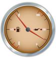 Retro fuel and oil gauge icon vector image