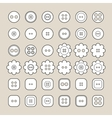 Sewing buttons Flat linear icons vector image