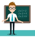 teacher classroom design vector image