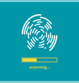 unlocked with fingerprint button access via vector image