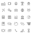 Economy line icons on white background vector image vector image