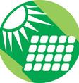 Abstract Sun Solar Panel Icon vector image vector image