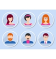 Men and women team icons vector image
