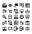 banking and finance line icons 6 vector image