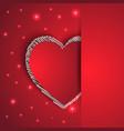 hearts shape romantic greeting card vector image vector image