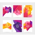 abstract colorful user interface template set vector image