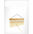 Beautiful Musical Bar Chimes with A White Banner vector image