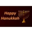 design style Happy Hanukkah logotype badge and vector image