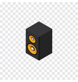 isolated loudspeaker isometric music box vector image