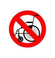 Stop wheelchair Prohibited disability Ban for vector image