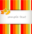 striped autumn background vector image