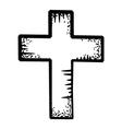 cross doodle vector image vector image