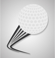 ball of golf sport design vector image