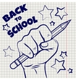 Back to school sketch vector image