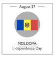 Moldova Independence Day vector image vector image