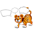 Empty callouts with a scary tiger vector image vector image