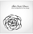 Ink style flower Elegant card for Your design vector image vector image