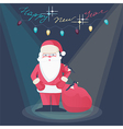 Santa Claus on a New Year greeting card design vector image vector image