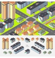 Isometric residential buildings vector image