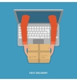 Fast goods delivery vector image