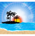 beach and sun vector image vector image