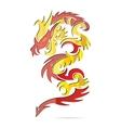 shiny asia fire dragon vector image vector image