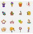 Circus set icons vector image