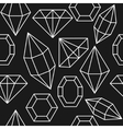 Diamond jem shape seamless pattern vector image