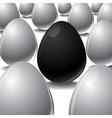 black egg Among white eggs concept vector image