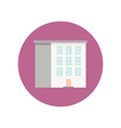 Colorful Flat Design Building icon vector image