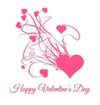 Happy valentines day Explode of pink heart vector image