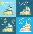 Mont Saint Michel flat design vector image