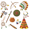 native american elements vector image