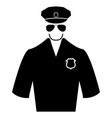 police black color icon vector image