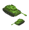 Tank Isometric on white background Army technique vector image