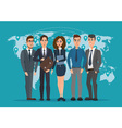 Leader and a team Group of men and women vector image