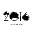 2016 Happy New Year and Christmas background vector image