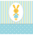Background with rabbit boy vector image