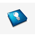 3d glossy bulb icon vector image