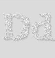 Decorated letter d vector image vector image