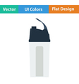 Flat design icon of Fitness bottle vector image vector image