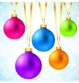 Bright colorful rainbow Christmas balls vector image
