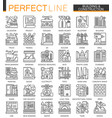 building and construction outline mini concept vector image