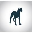 Dog simple icon vector image