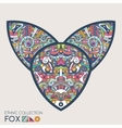 Ethnic colored head of the fox vector image
