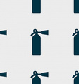 extinguisher icon sign Seamless pattern with vector image