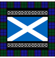flag of scotland with tartan vector image