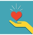 Hand holding heart icon vector image