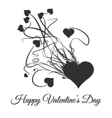 Happy valentines day Explode of black heart vector image