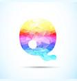 letter q logo icon vector image